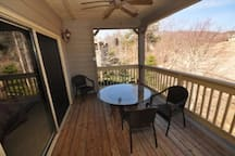 Outside Deck with a beautiful Mountain view