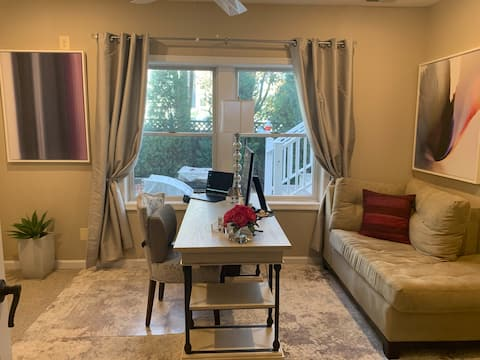 Relax! Private suite, upscale office & living area