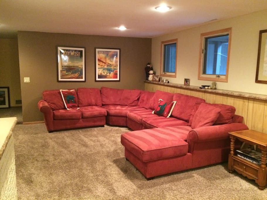 Lower level family room.  With cable and netflix just for you.