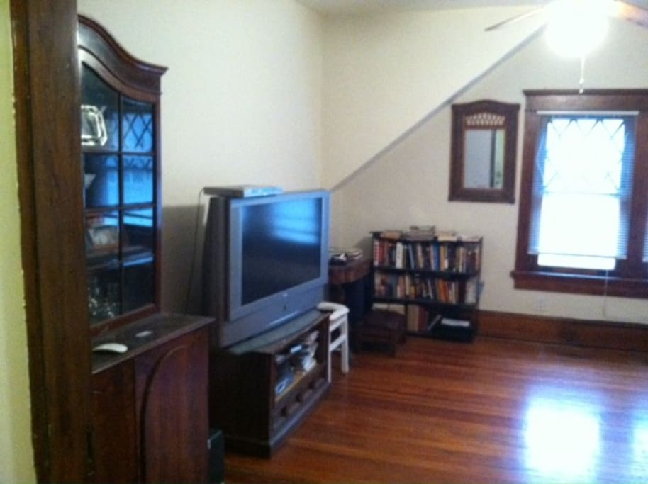 Living Area w/ couch and TV