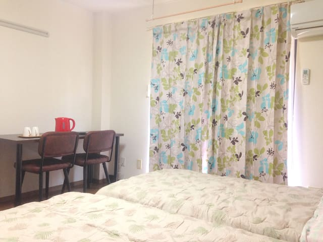 Comfort bed with free WiFi near Tsukuba Univ - Tsukuba - Leilighet
