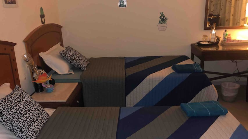 Clean quiet in city with private room welcoming