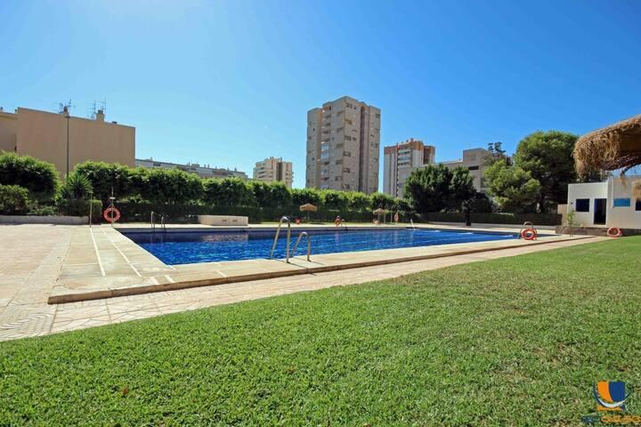 Apartamento con piscina olimpica cerca del mar - Roquetas de Mar - Apartemen