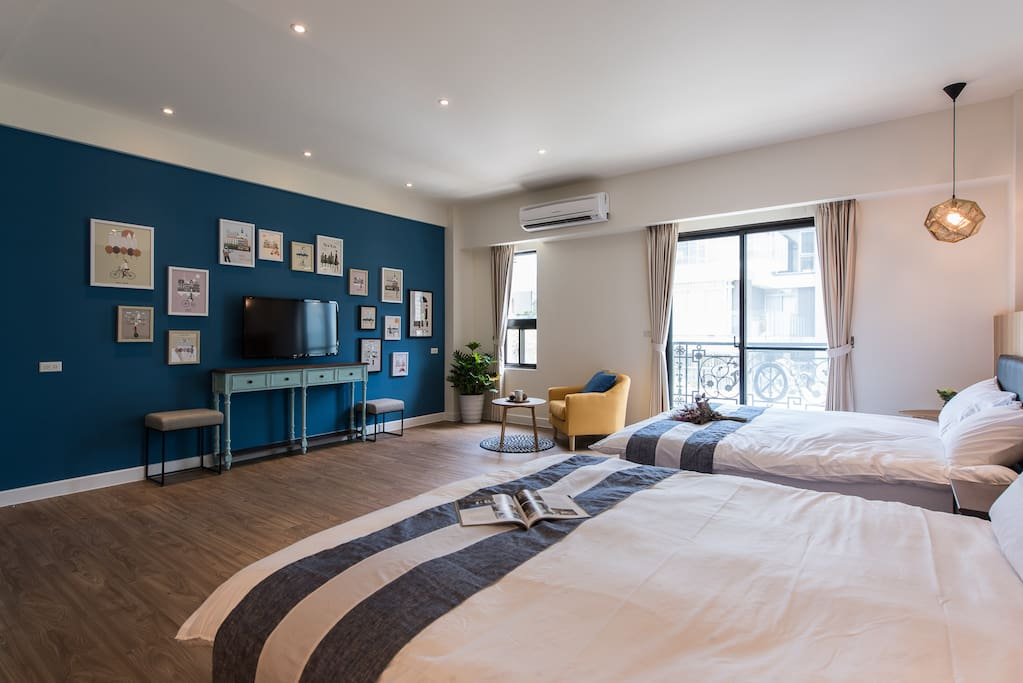 Master Bedroom with 2 beds, 四人房