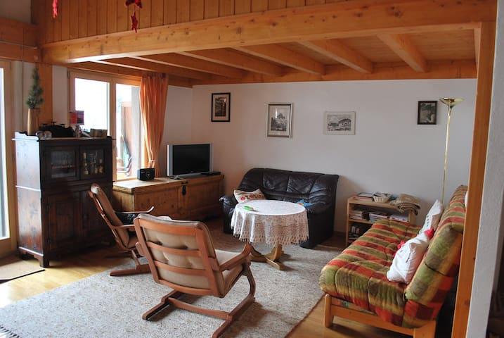 Appartement pour 7 à Zinal, au centre et belle vue - Ayer - Apartmen