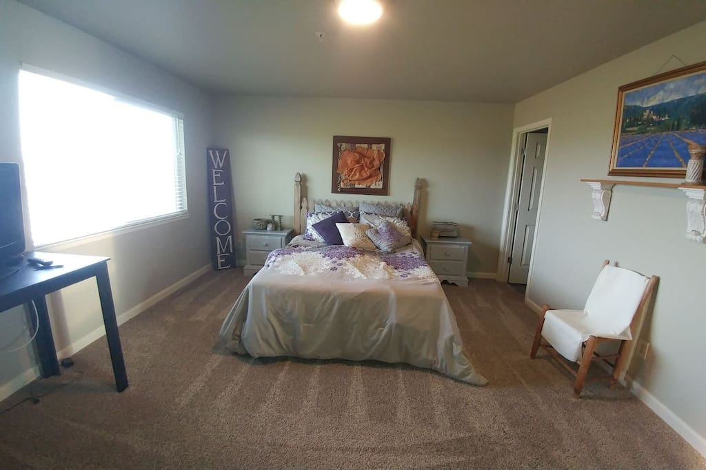 Unwind in your spacious master bedroom suite, home away from home.