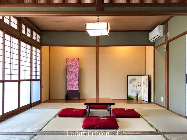 2 tatami rooms in a traditional Japanese house