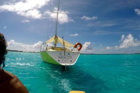 MARACUJA 38 Feet sailing boat in Marina Apooiti - 'Uturoa