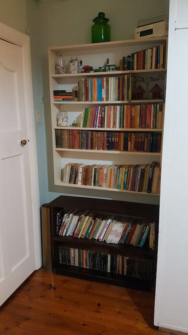 Bookshelf in the room