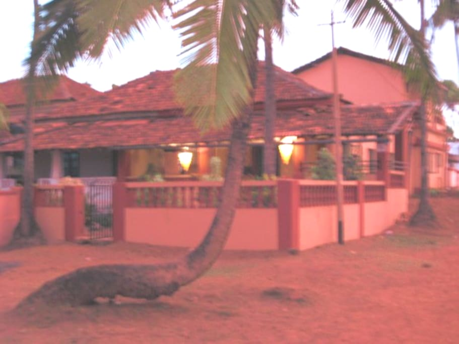 The Villa just after sunset ( front view )