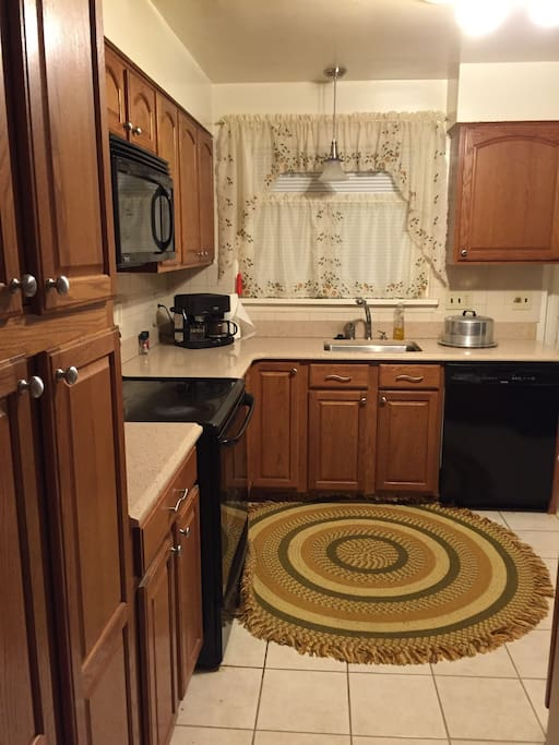 Nicely equipped kitchen. Cook meals and save money off of pricey city dining options.