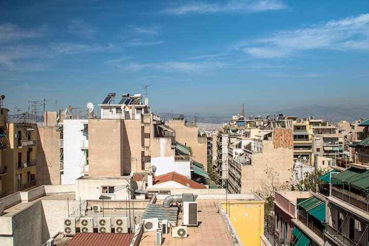 5th floor loft in Exarcheia, amazing city view!