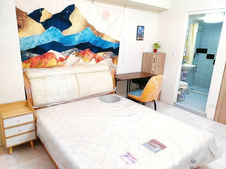 HAPPY VIBES 誠品旁河景舒服房源,新整理獨立筒床一夜好眠