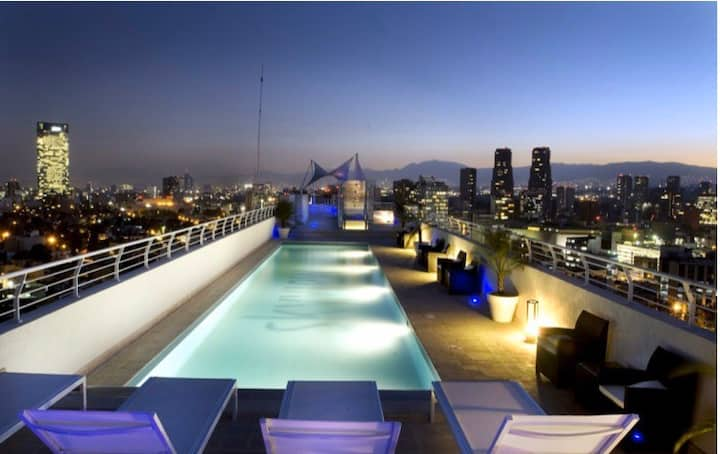 Polanco Fabuloso 1/5 guest,pool, parking, jacuzzi