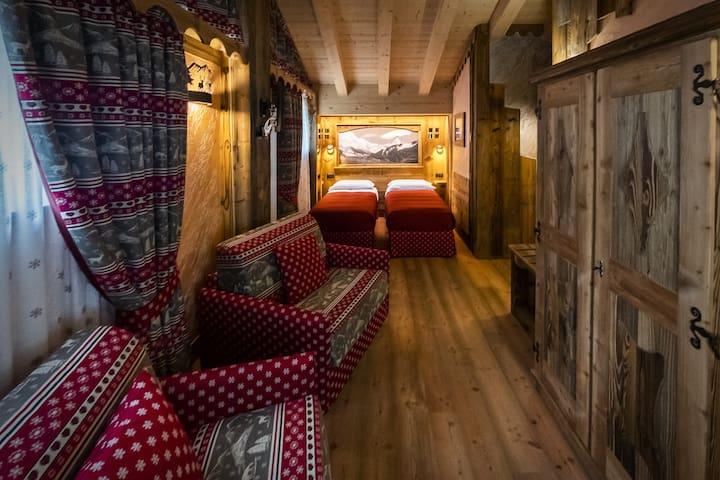 Deluxe Rooms Chalet Matterhorn Francois: Camere twin di lusso con colazione, servizi VIP e SPA