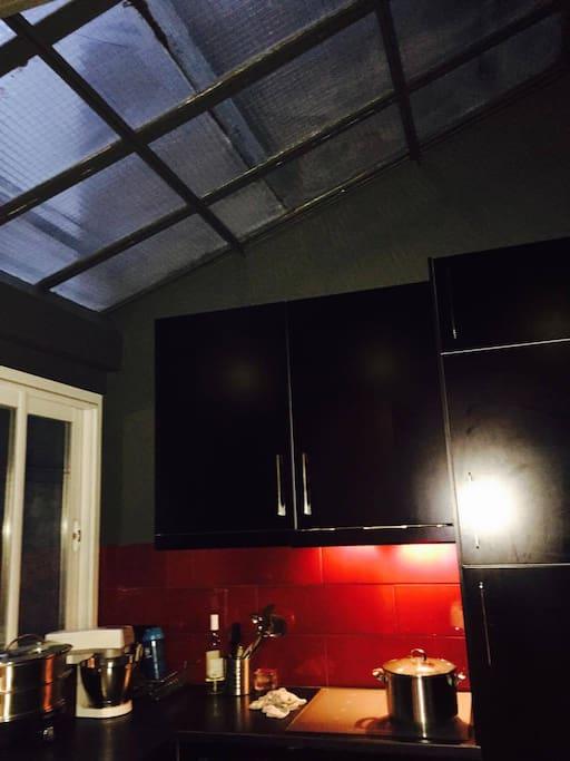 cuisine sous verrière : lumière zénithale !