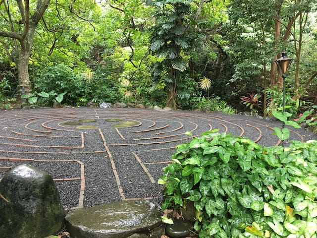 We have two walking labyrinths on the adjacent property!