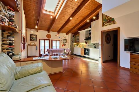 Bologna,een prachtig huis op de heuvels. 3 kamers