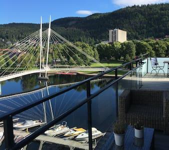 3 ROMS LEILIGHET SENTRALT I DRAMMEN, UNION, UTSIKT - Drammen - Apartament