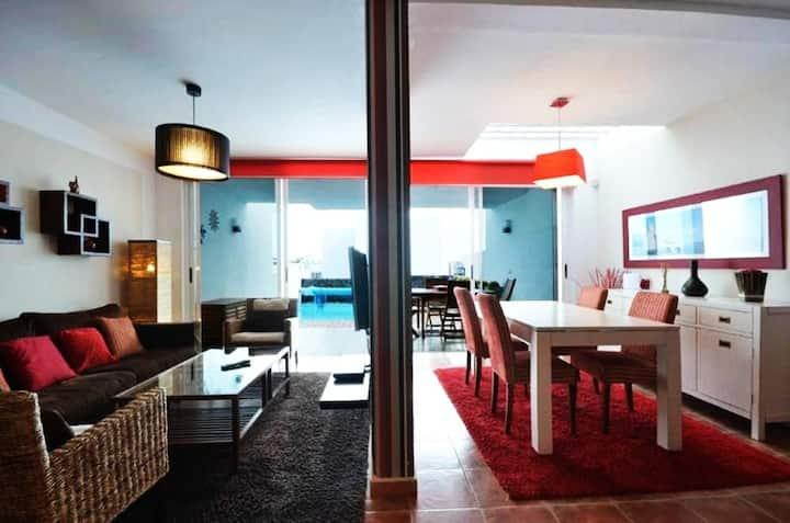 Villa con piscina privada climatizada, 2 bicis