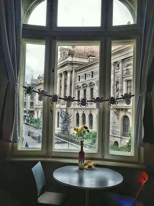 Views of the National Bank of Romania from our common area