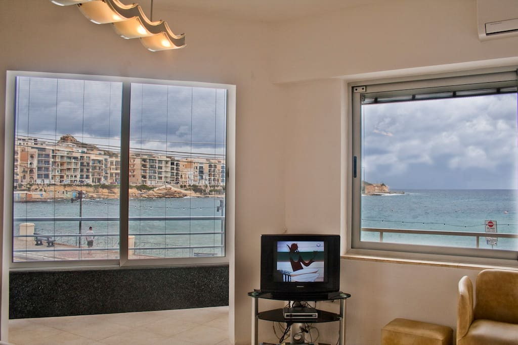 Sea view from living area.