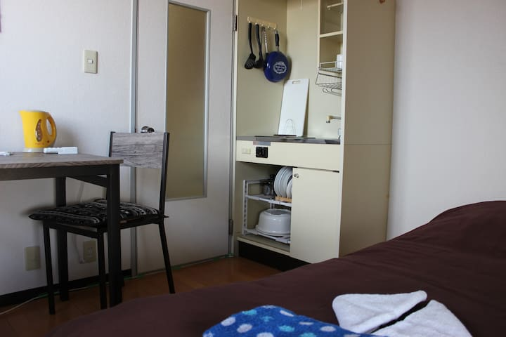 cozy two bedrooms apartment in northern Osaka city