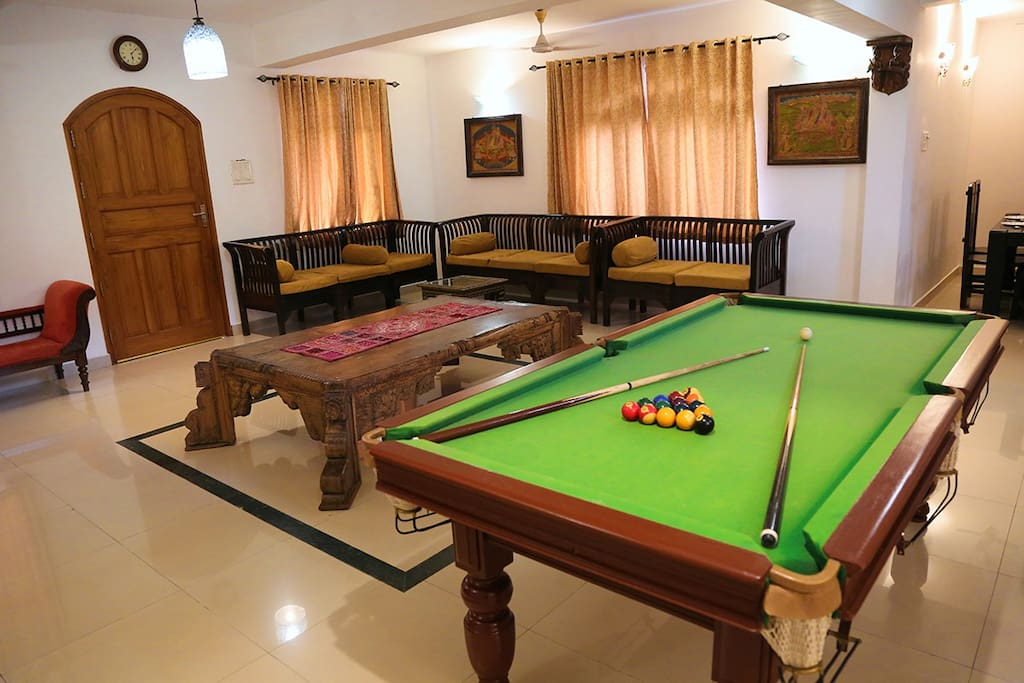 Living Area with Pool Table
