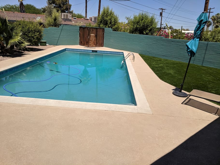 access to pool and patio