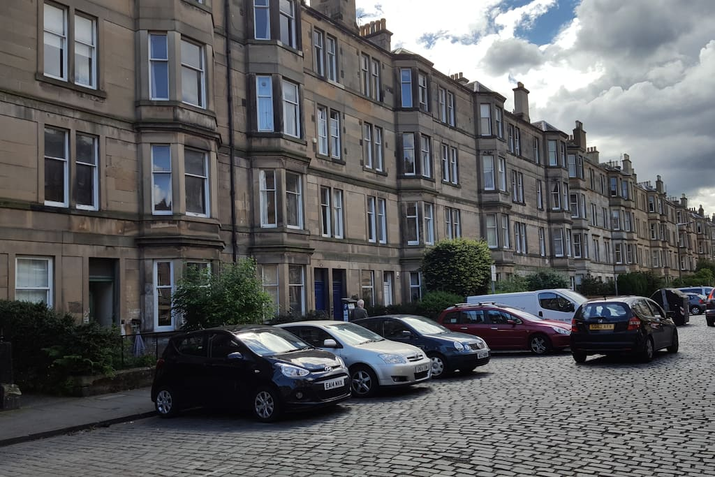 Thirlestane Road. Flat is on the first floor.