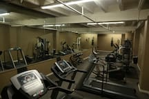 Gym located in the building on floor M. Dumbells, Treadmills, Punching Bag, Bicycles, & Chest Press. Get Fit!