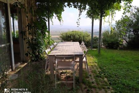 גינה ורוח מול כפרי לבנון