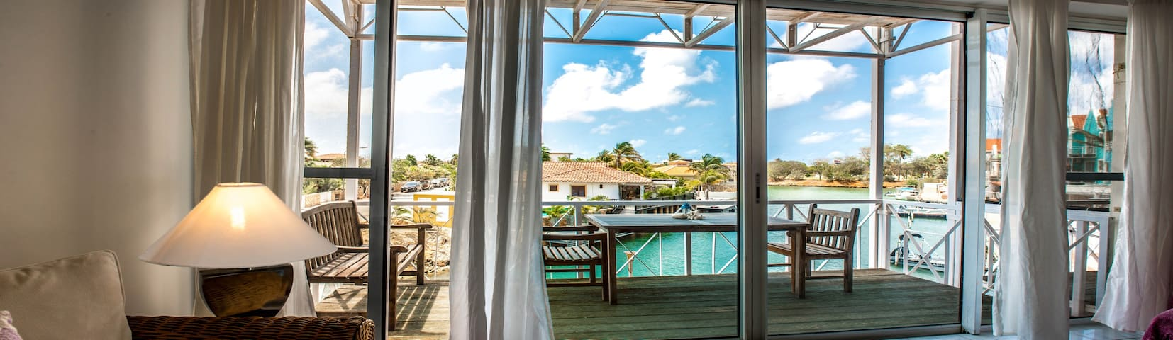 Intimate setting ideal for a couple. Your apartment nestled between two resorts.