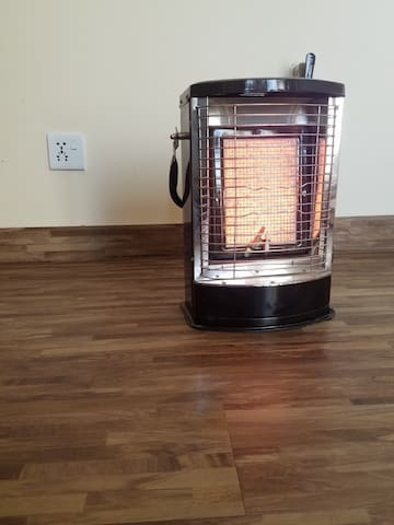 The heater is available in both rooms.