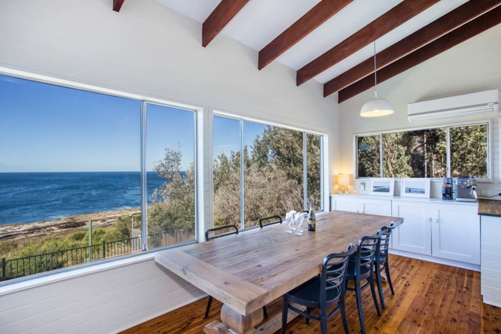 Dining Area with Ocean Views.