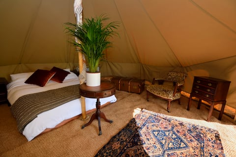 Vintage style bell tent near Frome