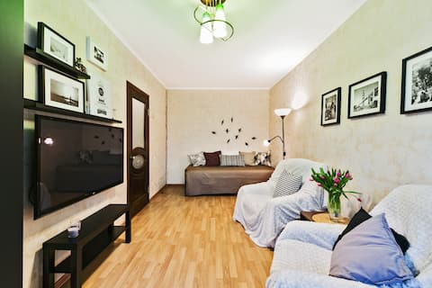 Kolomenskoe Park Apartments in 12min from Kremlin!