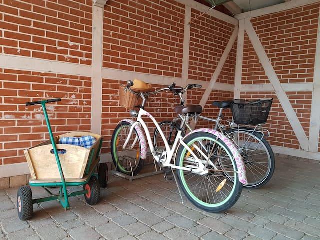 Fahrradständer im Carport