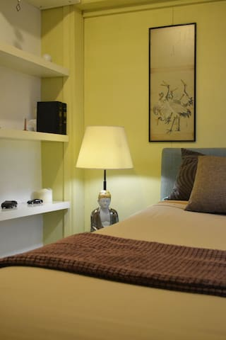 Master Bedroom, equipped with bedside tables and lights on both sides for comfortable night reading!