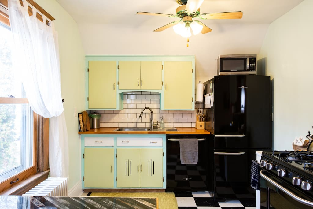 Vintage meets modern. Updated kitchen with dinning area