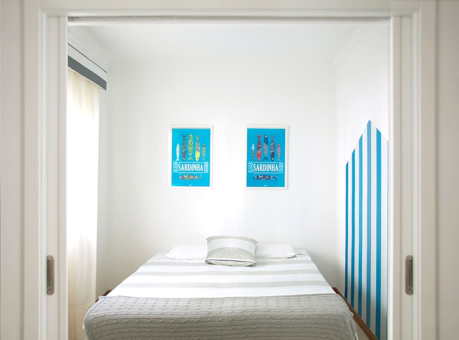 Casa do Quico, bedroom for 2 people, with built-in wardrobe