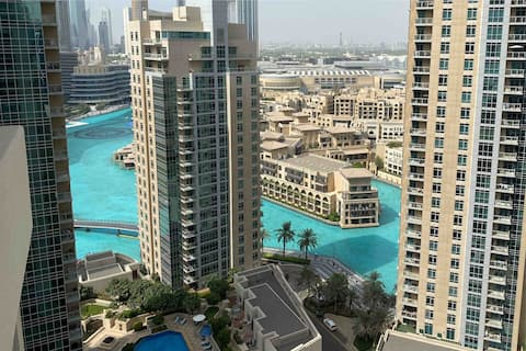 Fountain view  1 bed condo next to Burj khalifa