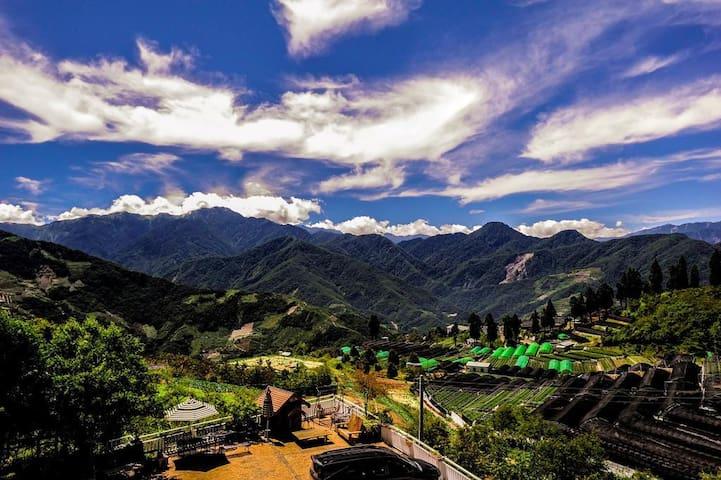 【清境家園】景觀2人套房~位於清境農場、鄰近青青草原、可觀星觀日出、面山景 - Ren'ai Township - Minsu (alojamiento típico taiwanés)