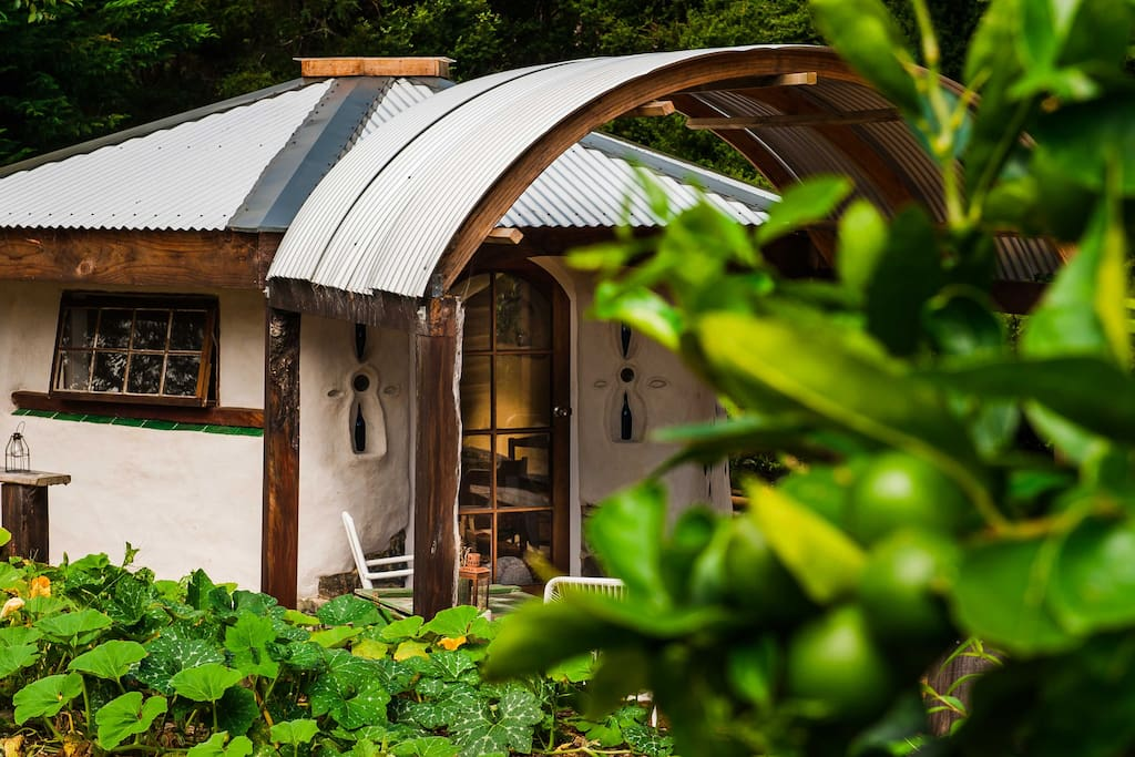 Our Cob Cottage - lovingly hand-built from all natural materials