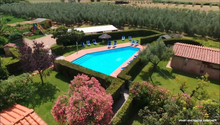 House PESCO parco privato- pool - jacuzzi - wifi