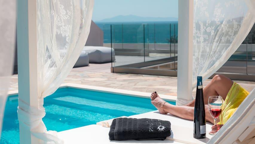 Luxury Apartment - Pool Amazing Seaview 200m Beach