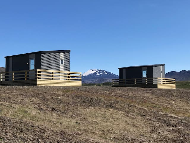 Afternoon cottages near Hekla - (Nr. 5)
