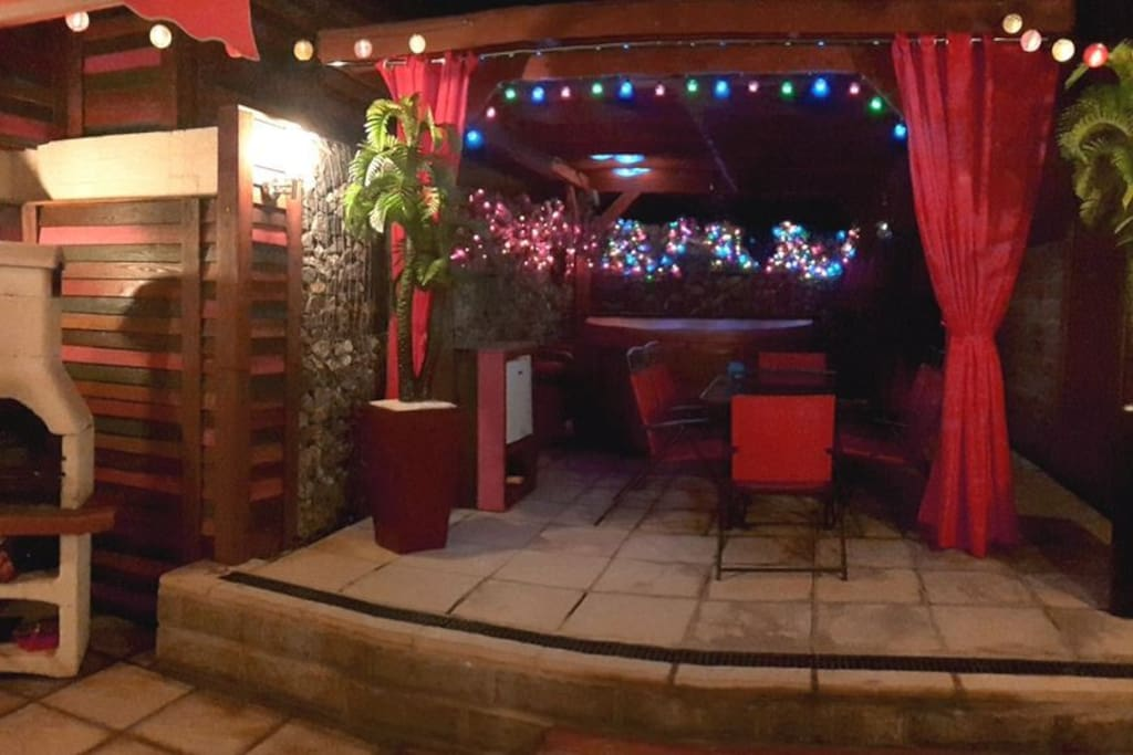 Our terrace at night, Awesome!