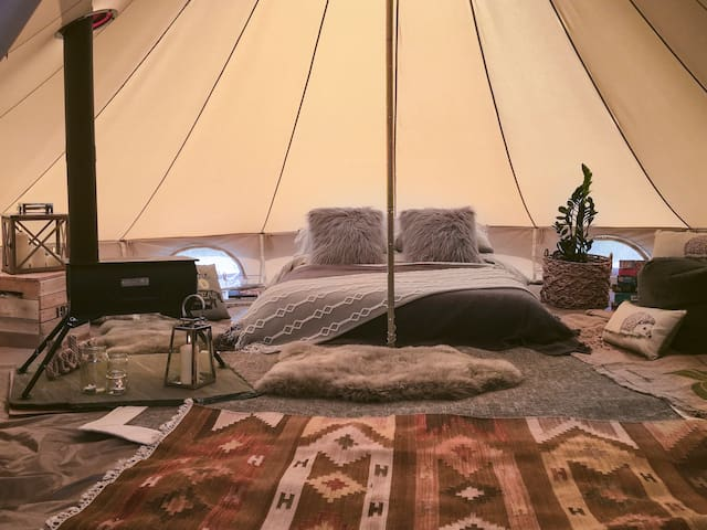 """Lakeland Wild """"Glamping"""" in a Luxurious Bell Tent"""