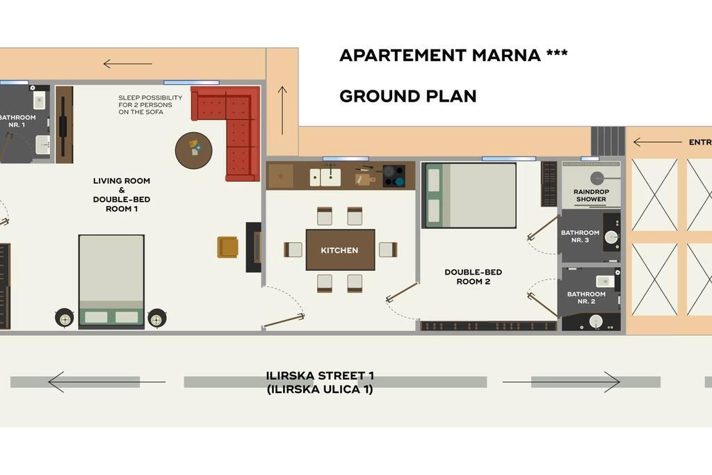 ground plan apartment marna